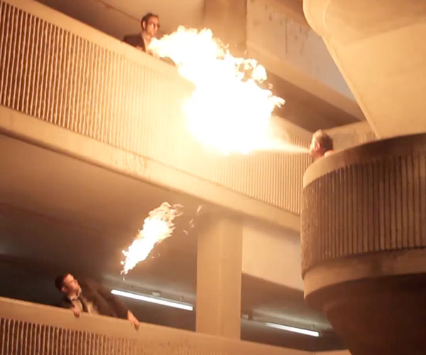 Fire Breathing Staircase Trick