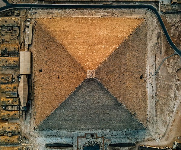 Giza Pyramid Drone Photography