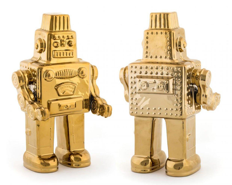 Gold Porcelain Robot