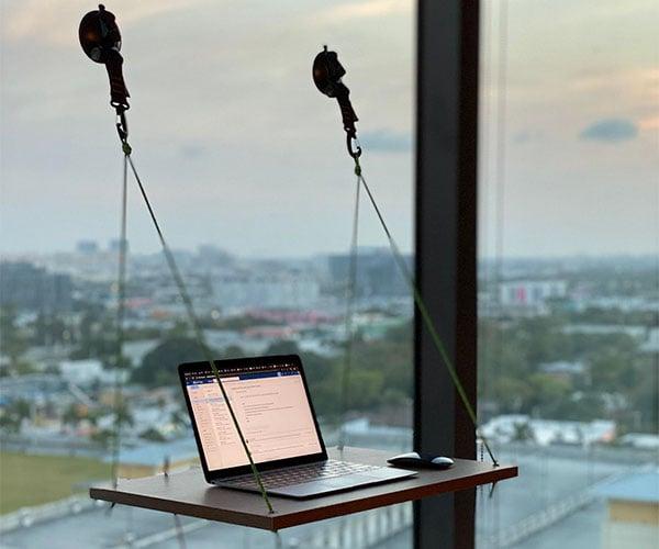 Hanging Window Laptop Desk