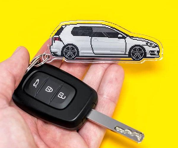 PXLCARS Custom Car Pixel Art + Keychains
