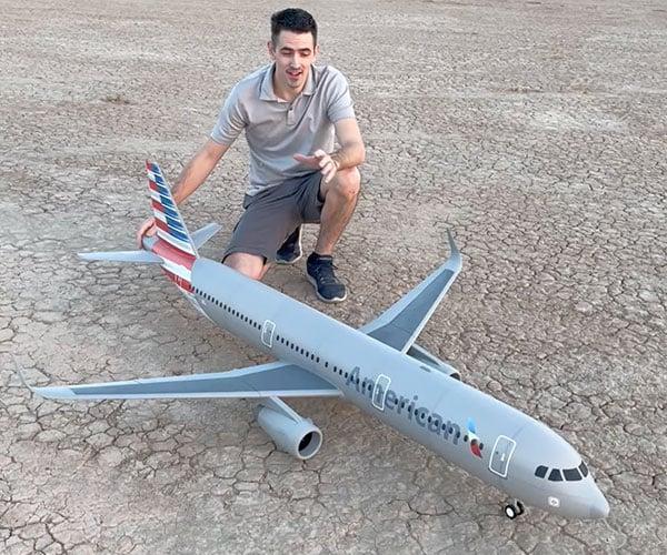 RC Jumbo Jet Build, Flight, Crash