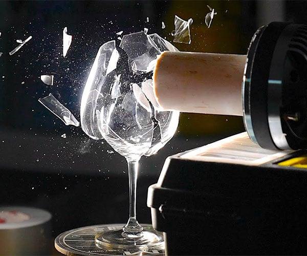 Ultra-Slow-Motion Wine Glass Shatter