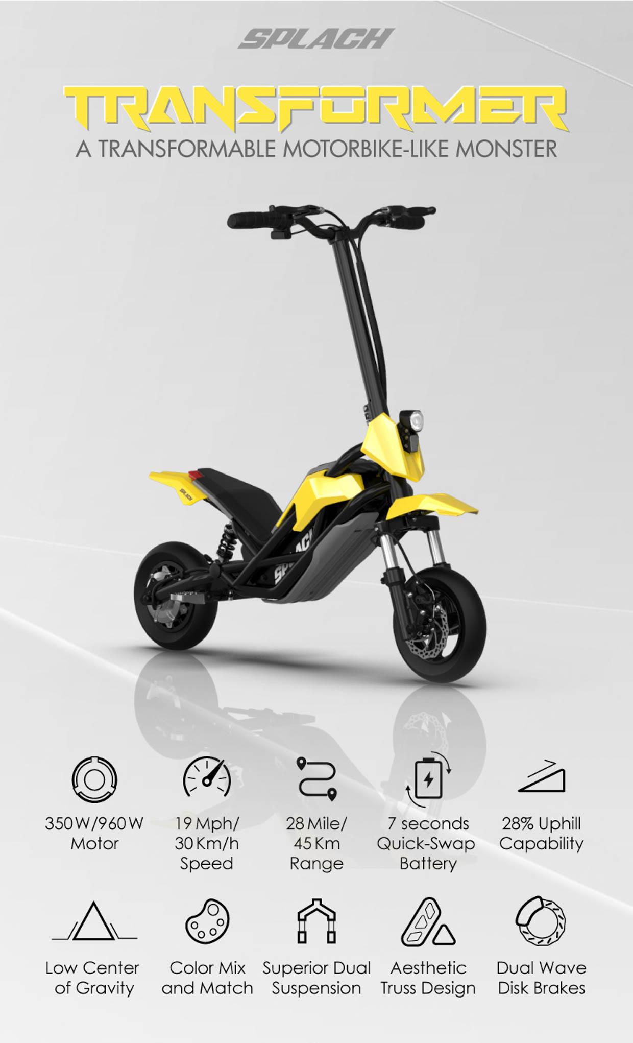 Splatch Transformer Scooter