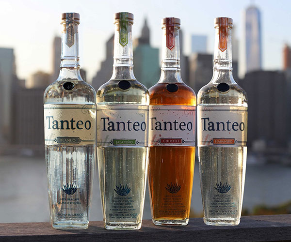 Tanteo Chipotle, Jalapeño, and Habanero Tequilas