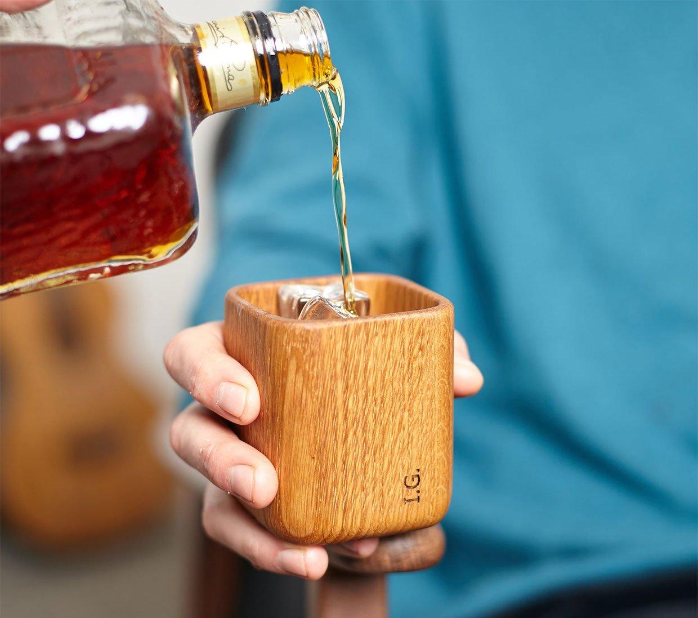 Oak Whiskey Tumbler