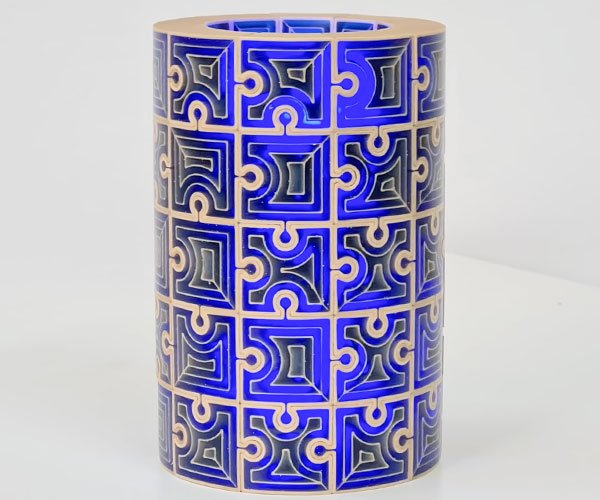 Making a Cylindrical Jigsaw Puzzle