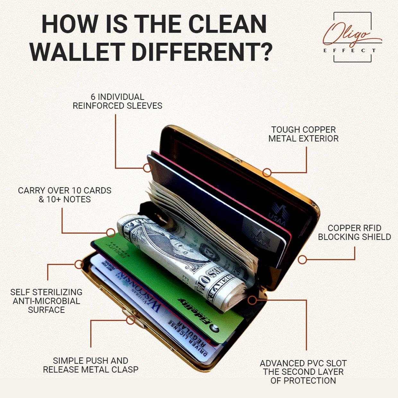 Oligo Effect Copper Clean Wallet