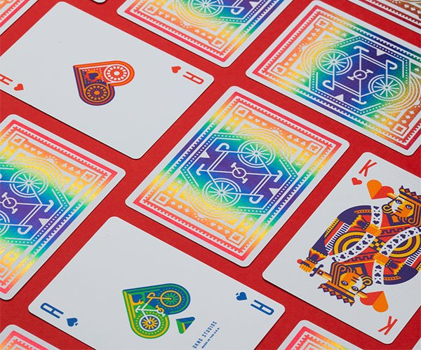 DKNG Rainbow Wheels Playing Cards