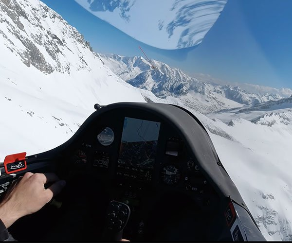 Gliding to the Alps