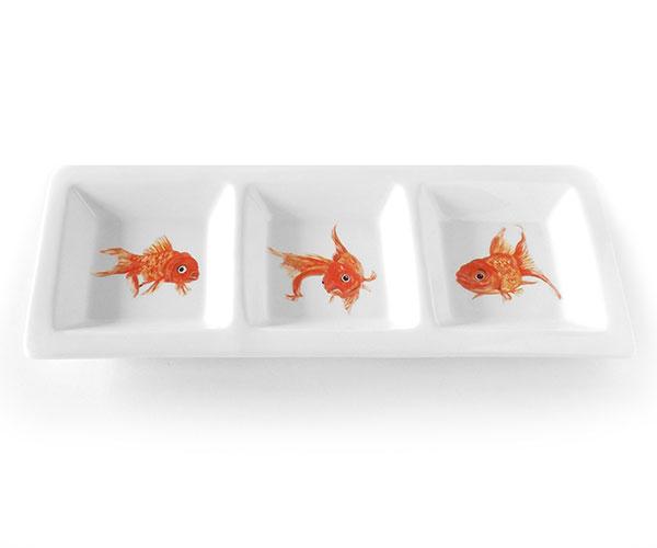 Golden Trio Tri Dish