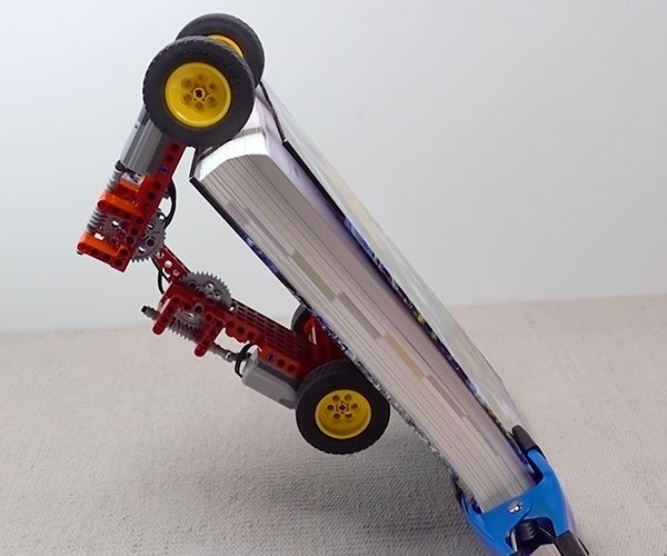 LEGO Car Climbs Challenging Obstacles