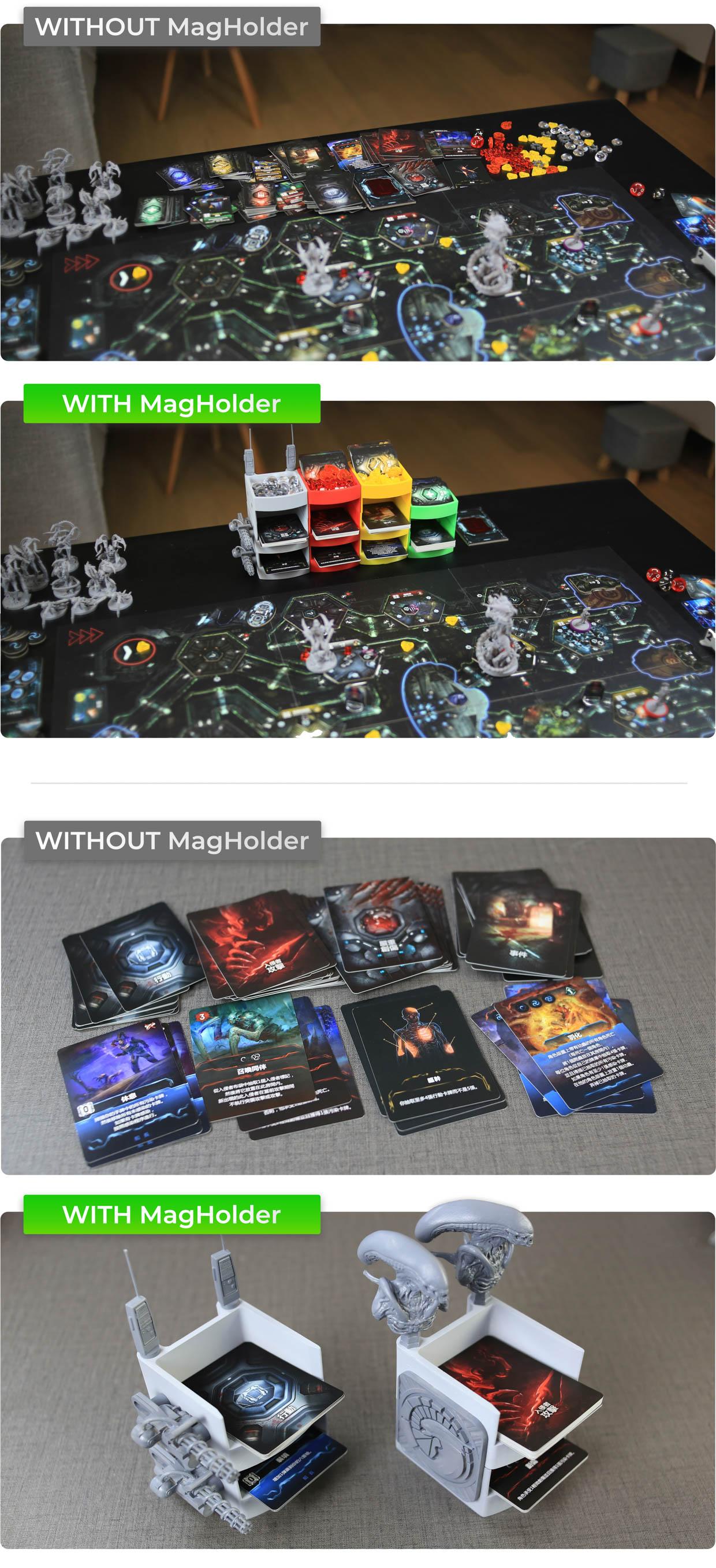 MagHolder Game Card + Token Holders