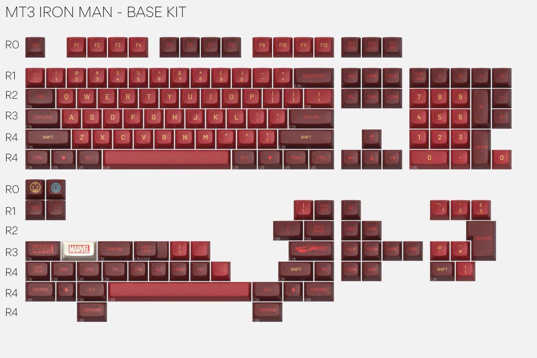 Drop + Marvel Iron Man Keycaps