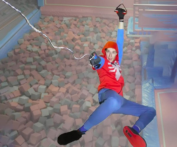 Swinging from Spider-Man Web-Shooters