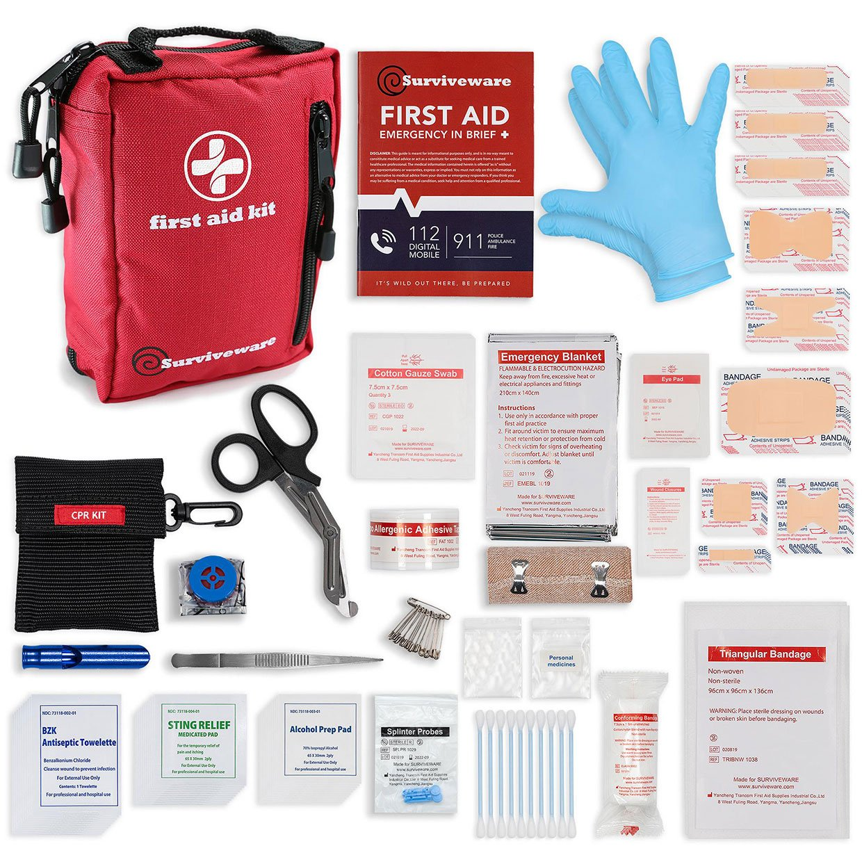 Surviveware Compact First Aid Kit