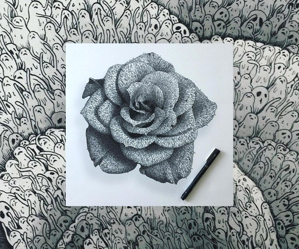Drawings Made of Tiny People