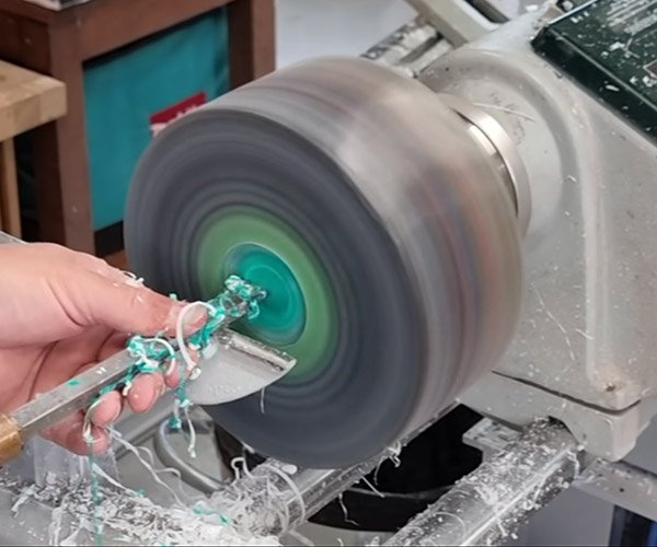 Turning Records on a Lathe