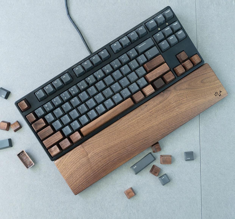 Walnut Wood Keycaps