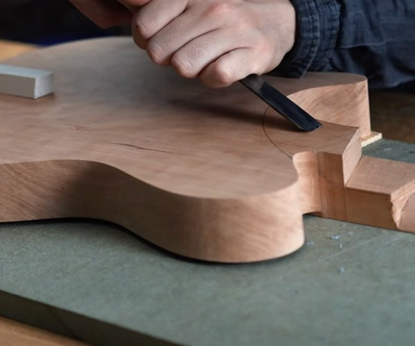 Making a Guitar from a Slab of Wood