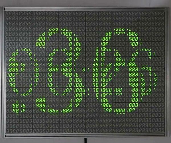 7200-Segment Display