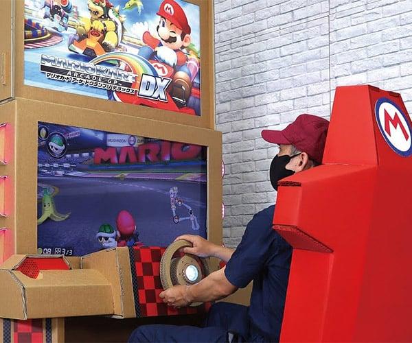 Cardboard Mario Kart Arcade Cabinet