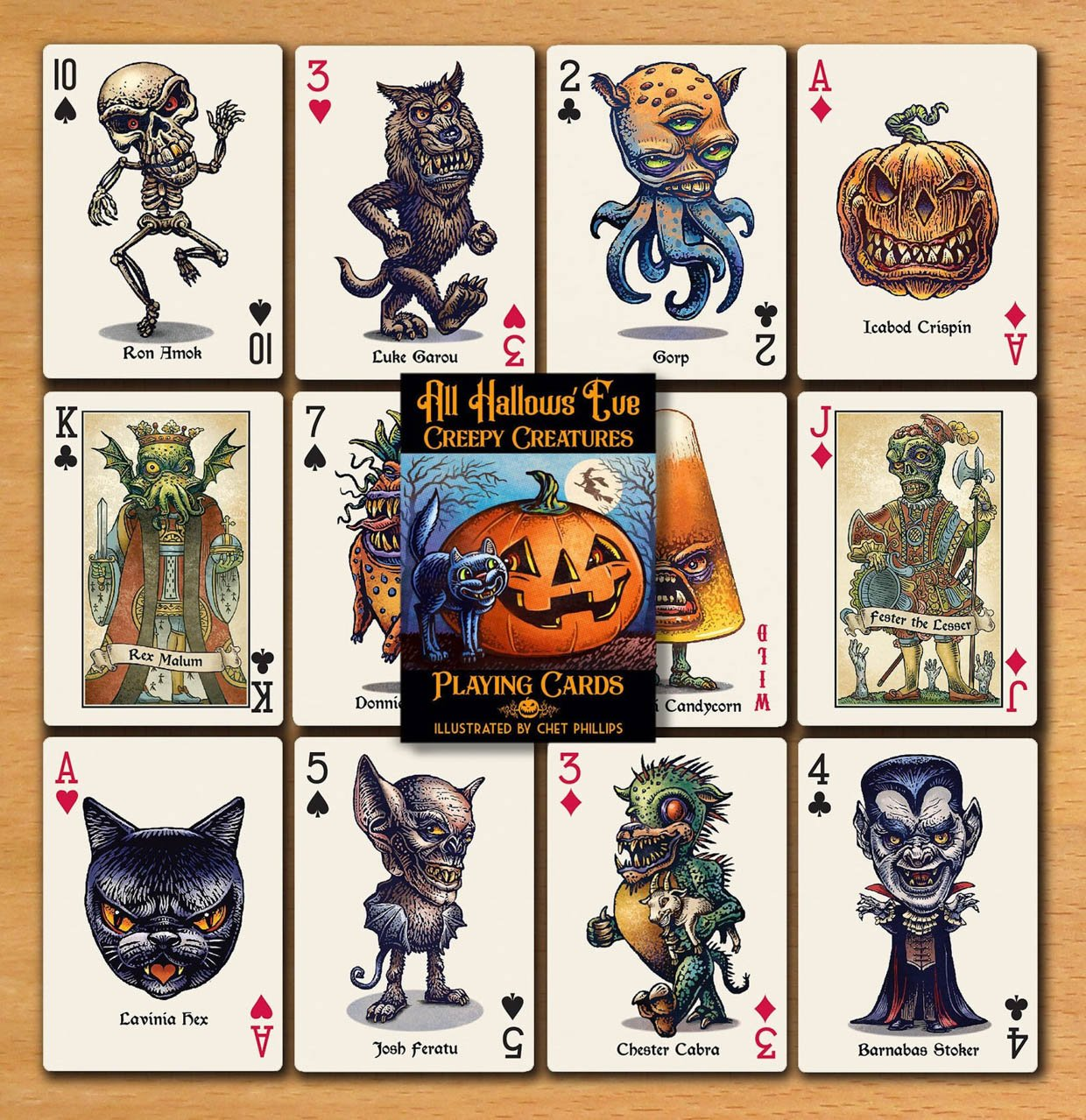 Creepy Creatures Playing Cards