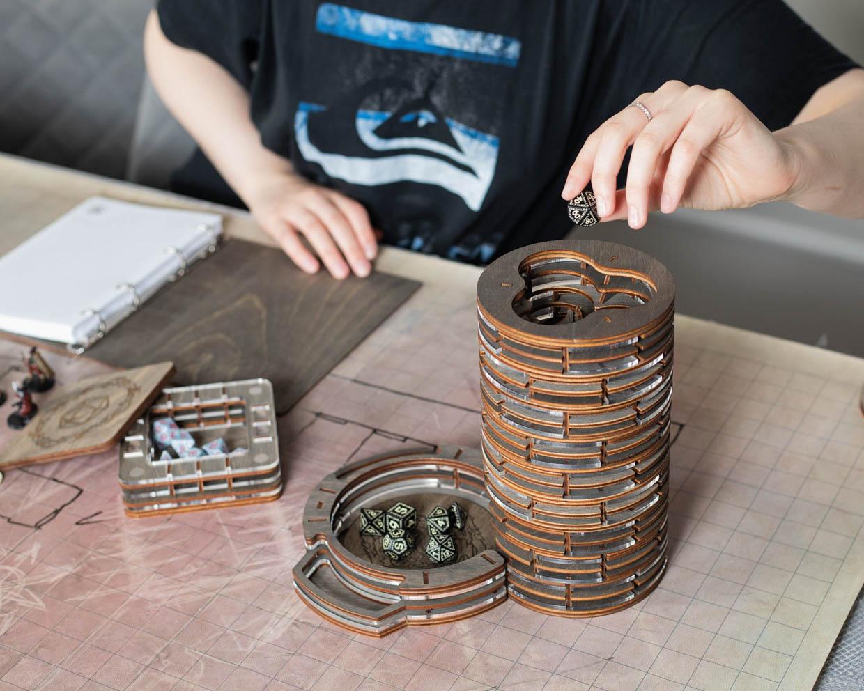 Smonex Wooden D&D Dice Tower