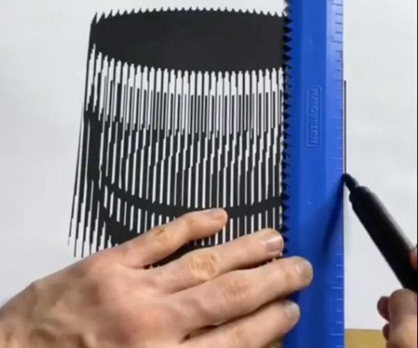 Drawing a Moiré Illusion