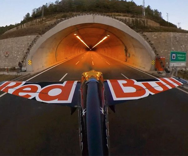 Flying a Plane Through Two Tunnels