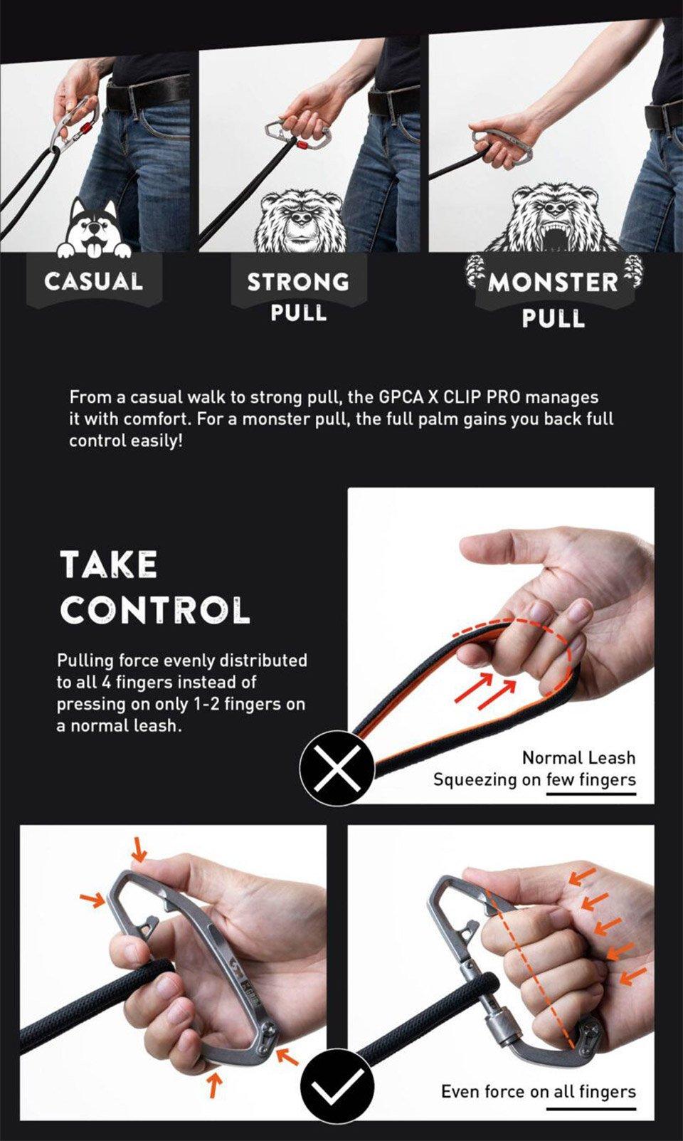 GPCA X Clip PRO Leash Set