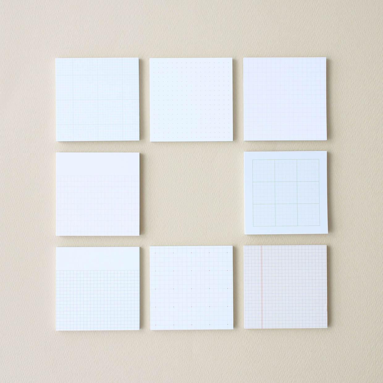 Grid Pattern Sticky Notes