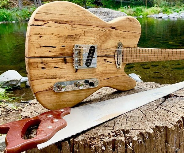 Making a Guitar in the Forest
