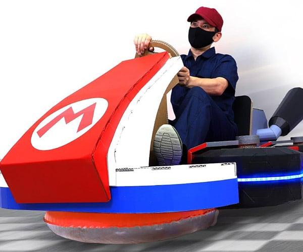 Cardboard Mario Kart Hovercraft