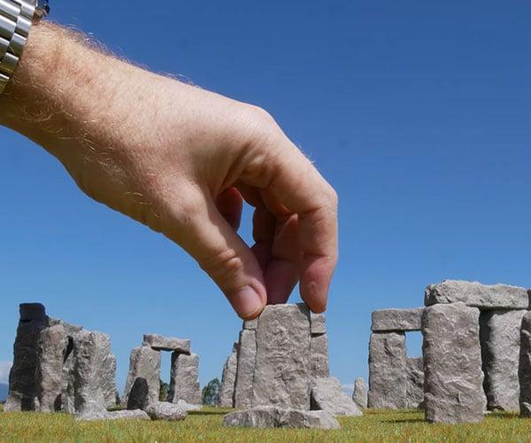 Making a Mini Stonehenge