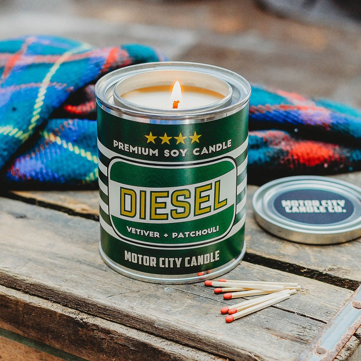Motor City Oil Can Candles