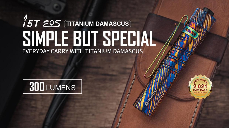 Olight Titanium Damascus 15T Flashlight