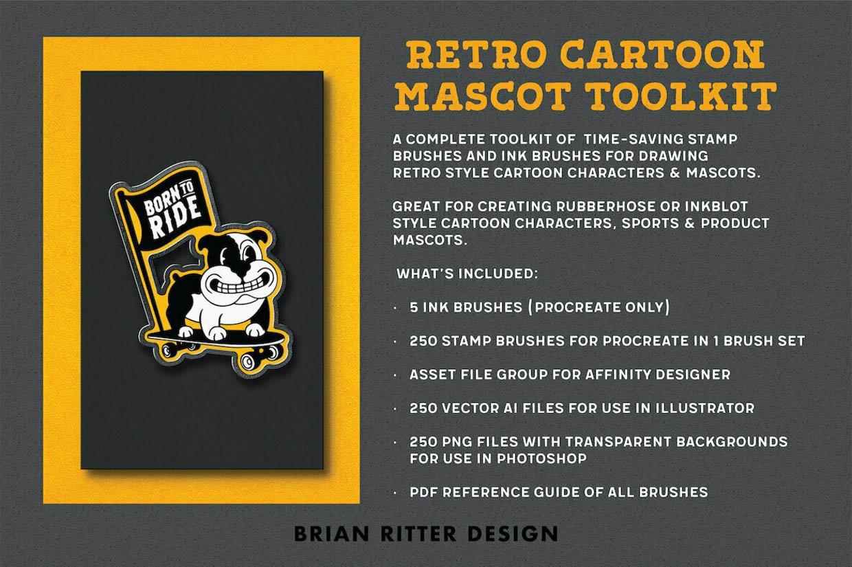 Retro Cartoon Mascot Toolkit