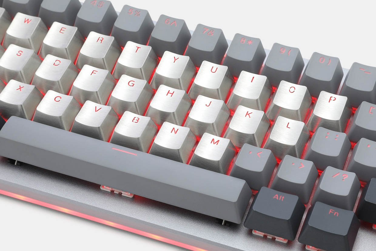 Stainless Steel Alpha Keycaps