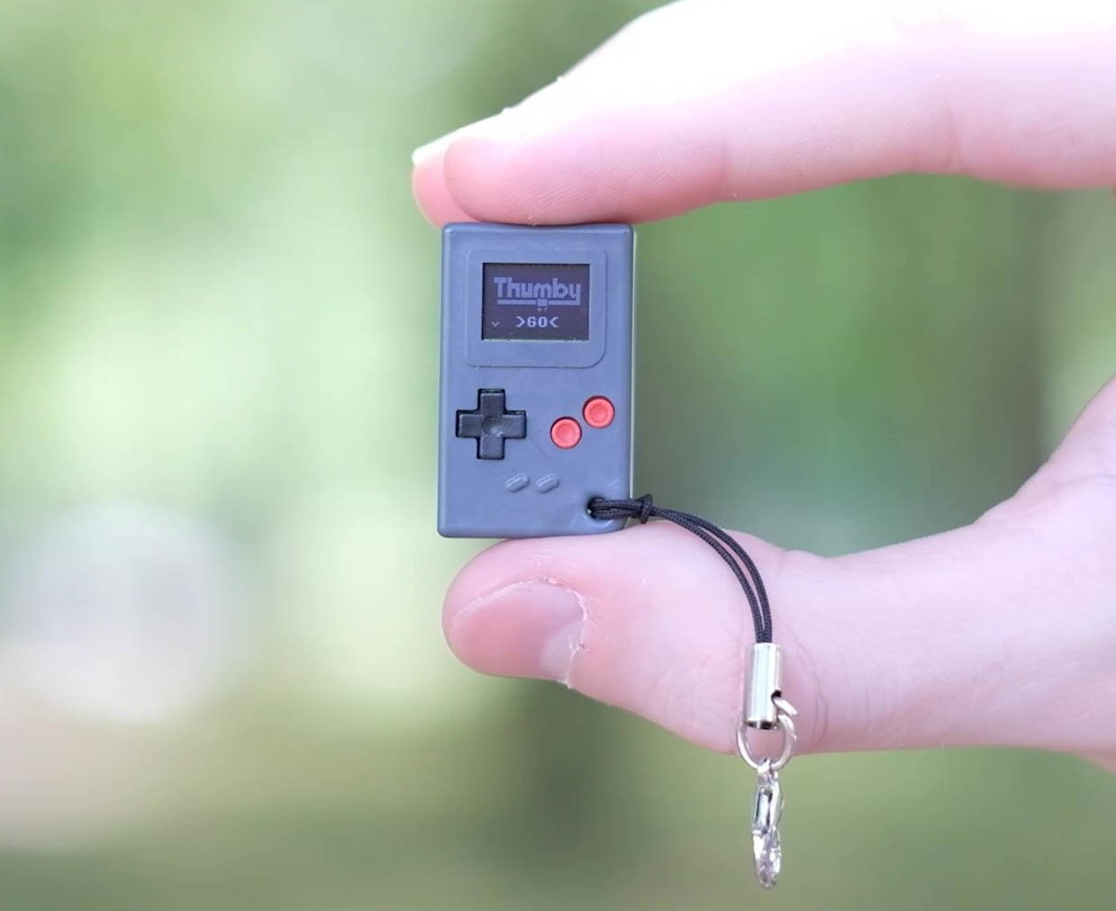 Thumby Keychain Game System