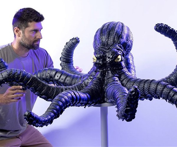 Making an Octopus from Tires