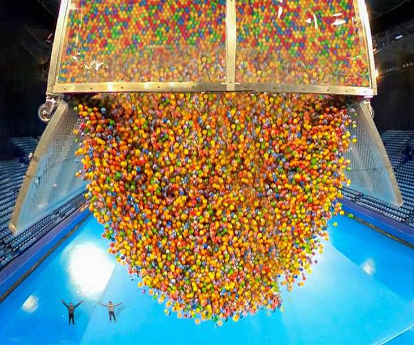 Dropping 100,000 Bouncy Balls