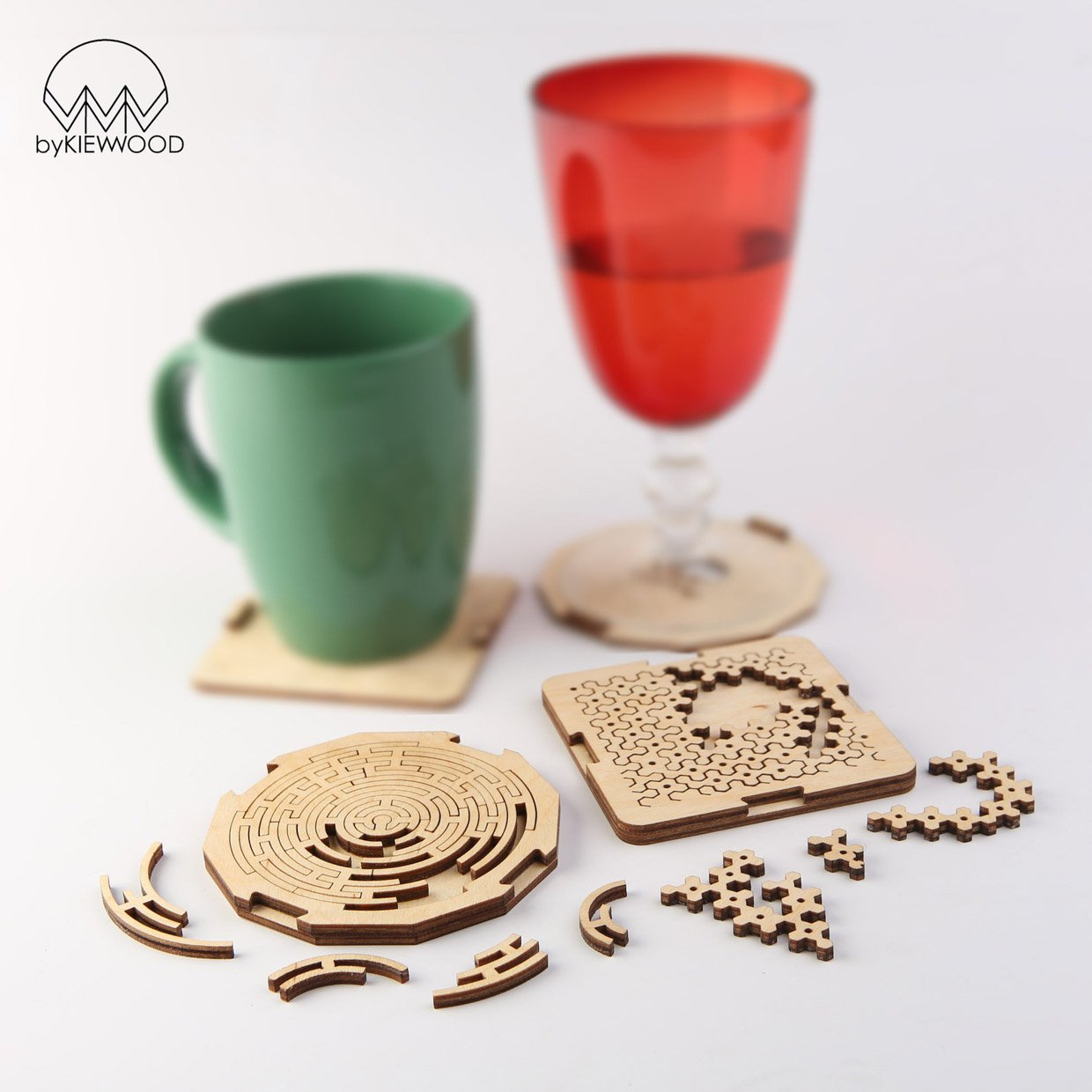 Fractal Jigsaw Puzzle Coasters