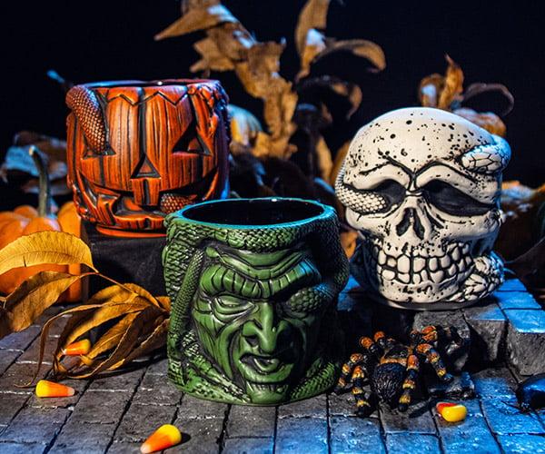 Halloween III Stacking Tiki Mugs