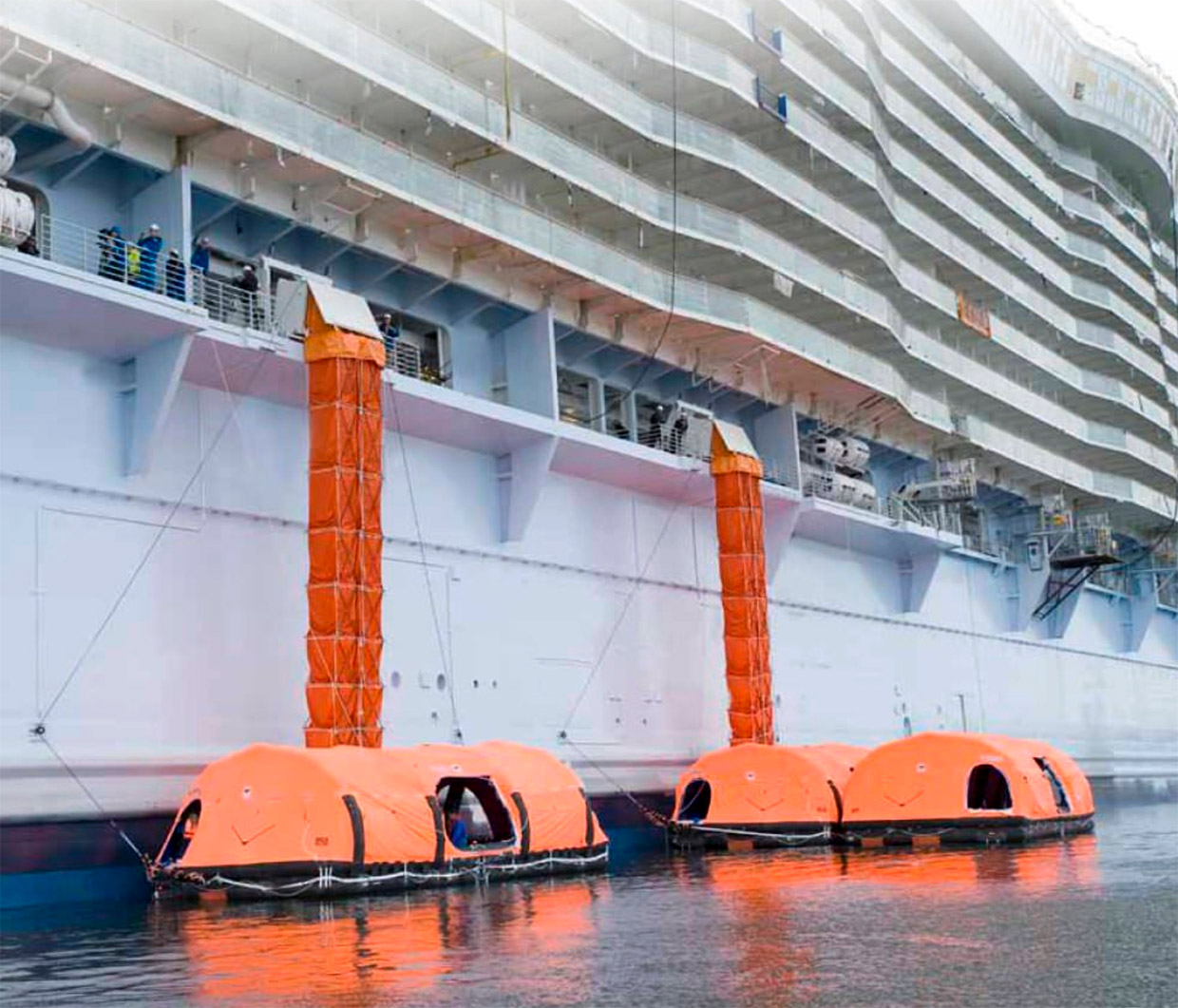 Inflatable Lifeboat and Chute System