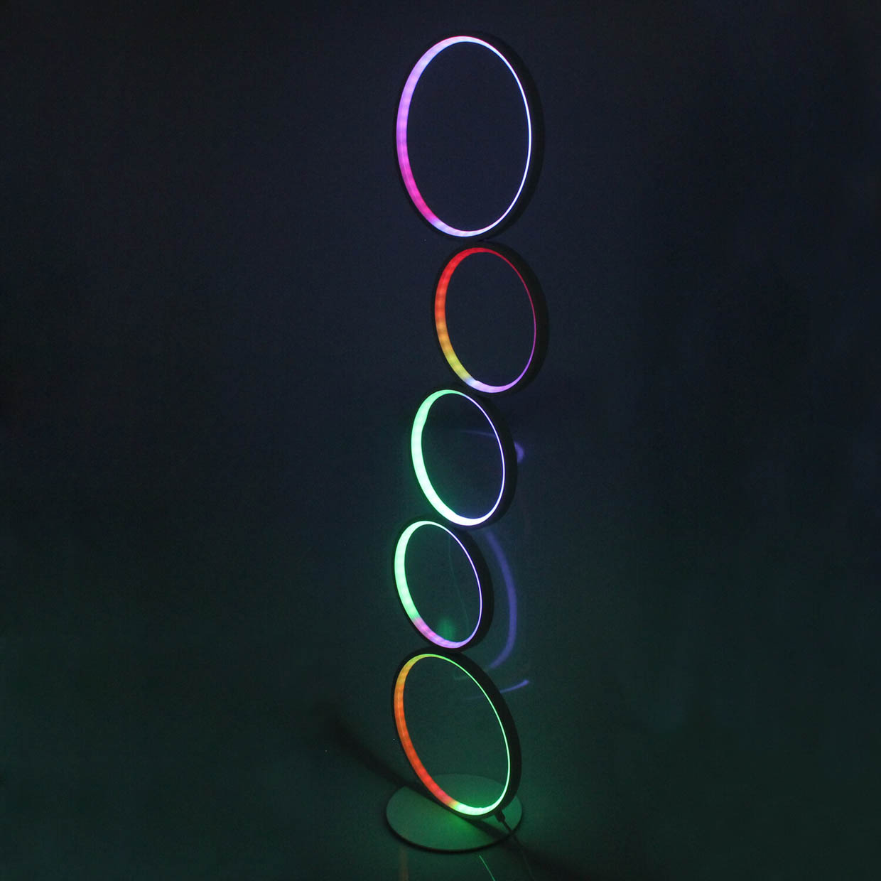 Stacked Rings RGB LED Floor Lamp