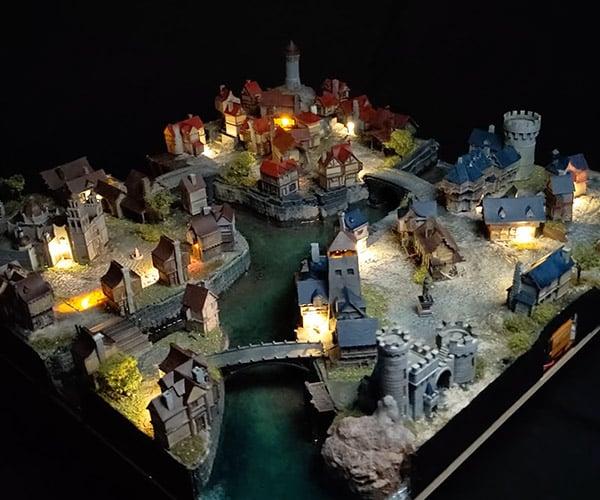3D Printed Medieval City