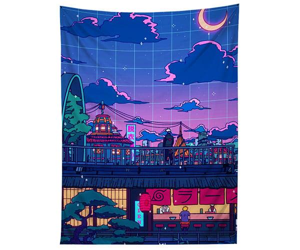 Neon Japan Tapestries