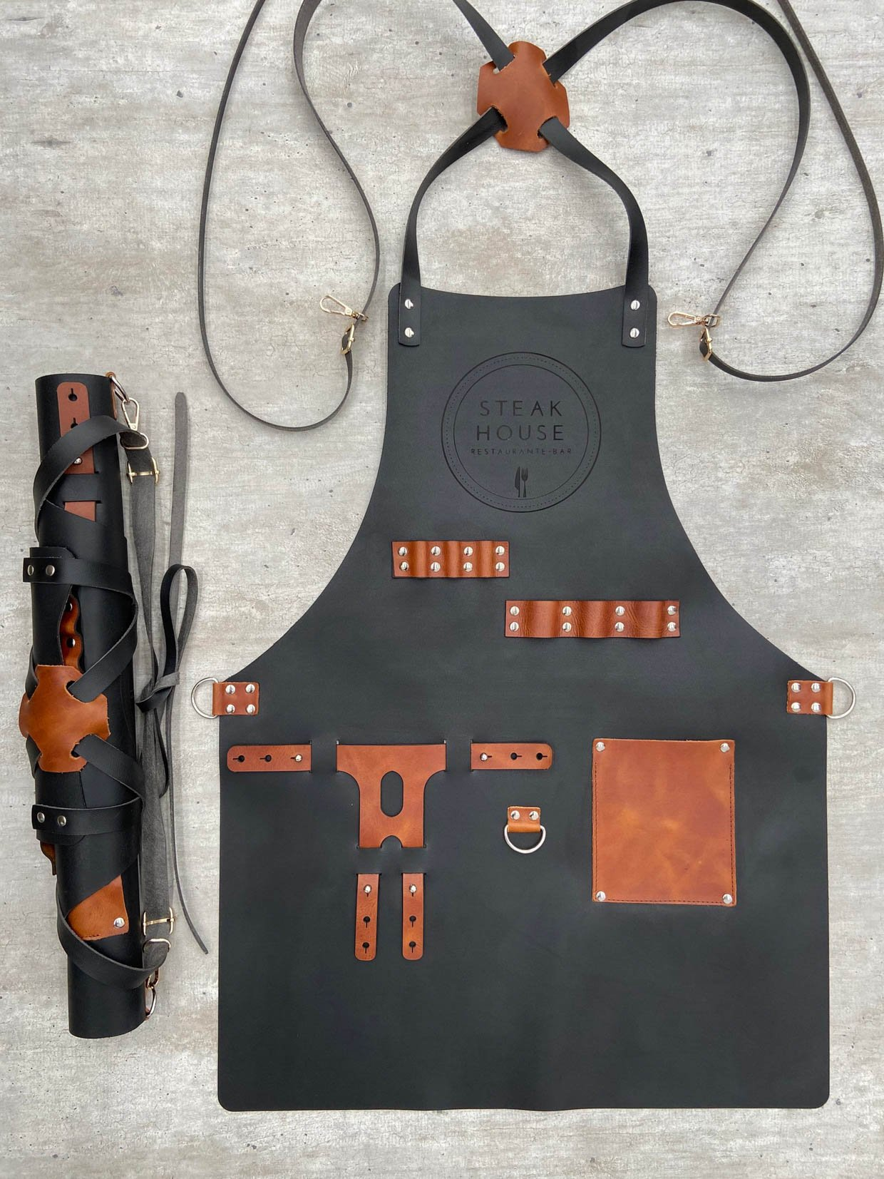 Personalized Leather Chef's Aprons