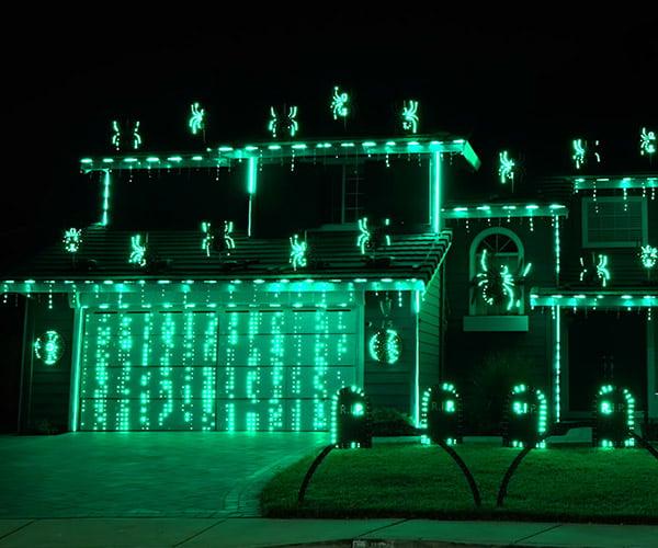 The Matrix Halloween Light Show
